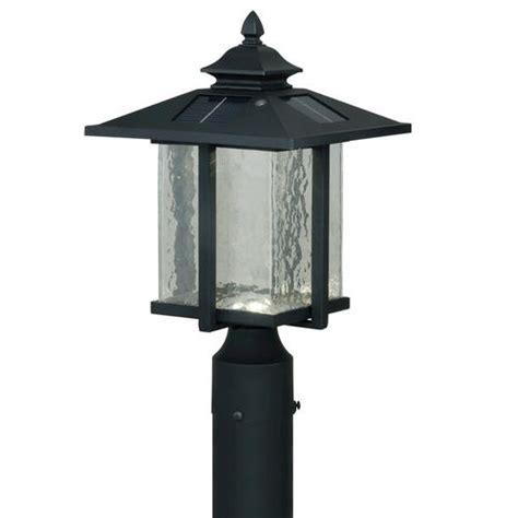 paradox led 15 5 8 quot textured black solar outdoor post light at menards 174