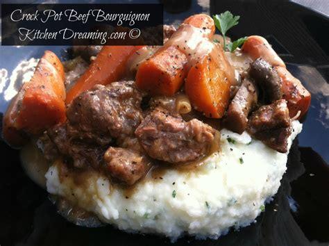 crock pot beef bourguignon kitchen dreaming