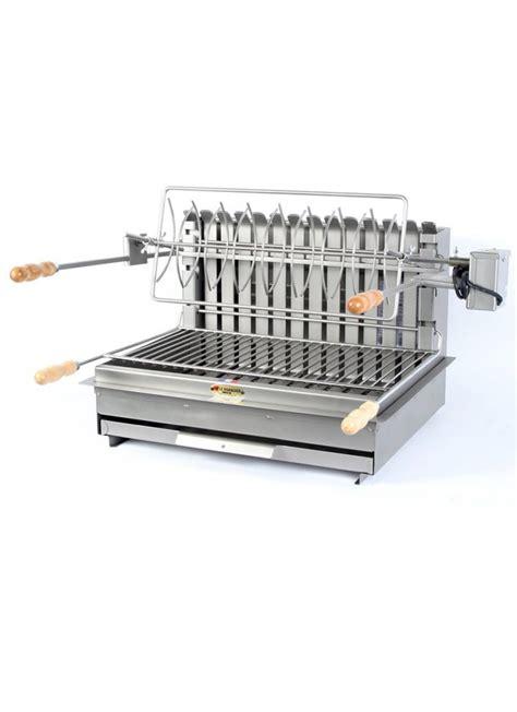 gril 600mm acier ou inox foyer horizontal et vertical