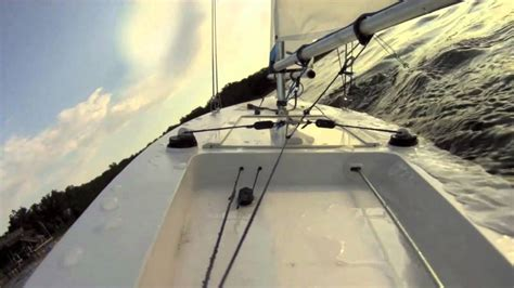 Boat R Camera by Rc Sail Boat With On Board Gopro Camera Youtube