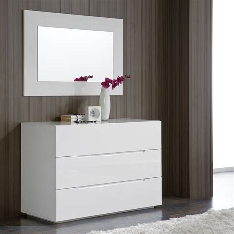 commode blanc laque