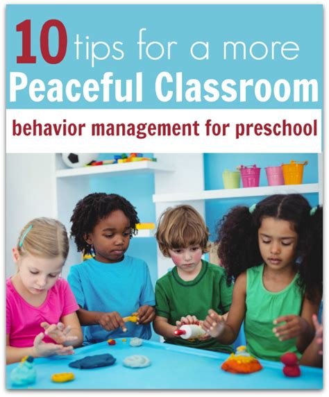 Preschool Behavior Management  10 Tips For A More Peaceful Classroom  No Time For Flash Cards