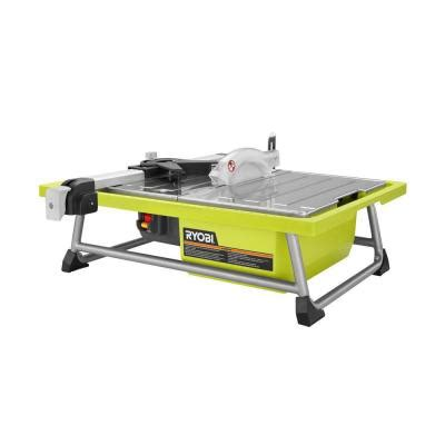Ryobi Tile Saw Ws722 by Ryobi 7 In Tabletop Tile Saw Ws722 The Home Depot