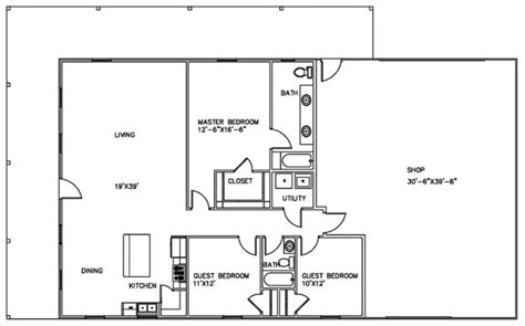 Metal Shop With Living Quarters Floor Plans by Complete Guide Build A Comfortable Shop With Living Quarters