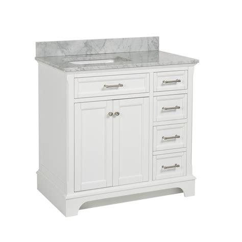 shop allen roth roveland white undermount single sink bathroom vanity with marble top