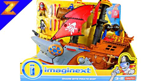 Pirate Boat Toy by Imaginext Shark Bite Pirate Ship Playset Toys Videos With