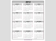 2012 calendar 2018 Calendar printable for Free Download
