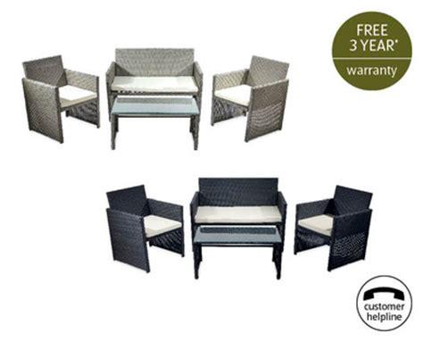 rattan effect furniture set aldi ireland specials