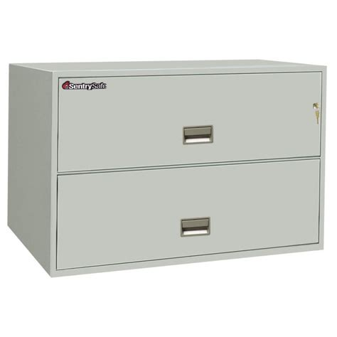 sentry 2l4300 2 drawer file cabinet 43 quot wide lateral file cabinets fireproof