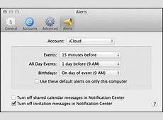 Change default reminder alert time in iCal? Ask Dave Taylor