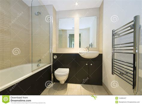 modern family bathroom in beige and brown royalty free stock photography image 14466447