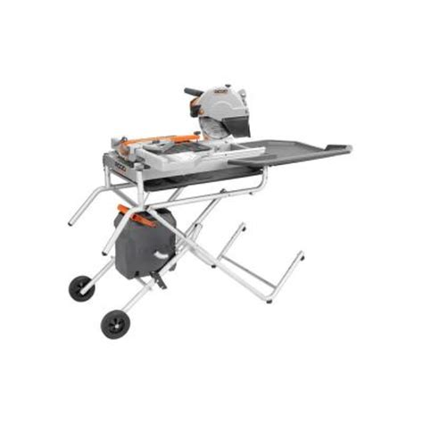 ridgid 10 in portable tile saw with laser r4010tr the home depot
