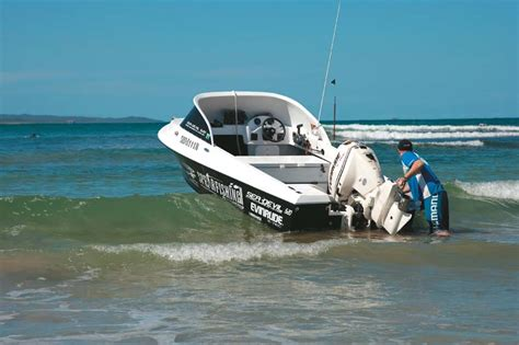 Best Boat Trailer For Beach Launching by How To Beach Launch A Boat Trade Boats Australia