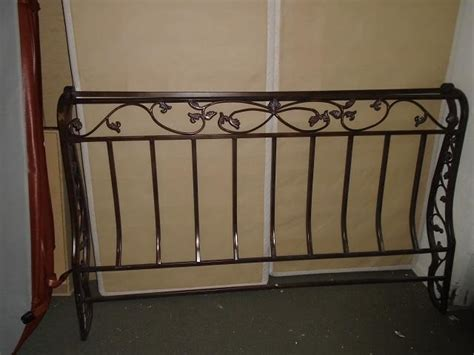 excellent condition wrought iron king size headboard