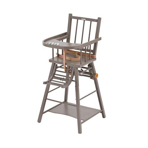 chaise haute transformable marcel laqu 233 taupe combelle pour chambre enfant les enfants du design