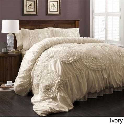 lush decor serena floral 3 comforter set by lush decor sleep will and lush