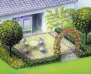 Kleine Terrasse Gestalten : garten terrasse planen haloring ~ Markanthonyermac.com Haus und Dekorationen
