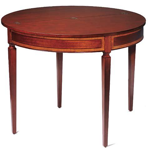 mahogany demi lune card table
