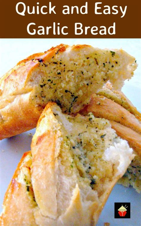 Quick And Easy Garlic Bread Lovefoodies