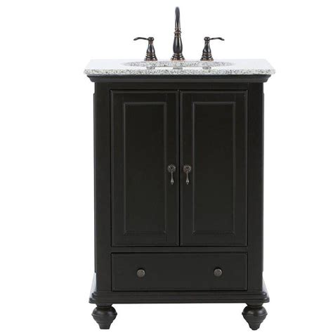 home decorators collection hamilton 25 in shutter vanity in ivory with granite vanity top in