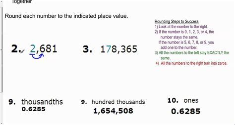 Rounding Whole Numbers & Decimals Youtube