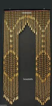 50 s style woods vintage wooden beaded curtain not bamboo archway door cut ebay