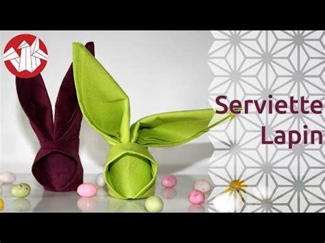 origami serviette lapin bunny napkin senbazuru