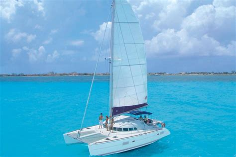 Isla Mujeres Catamaran Sailing Tour by Sail By Catamaran To Isla Mujeres