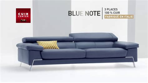 cuir center nouvelle collection canap 233 blue note