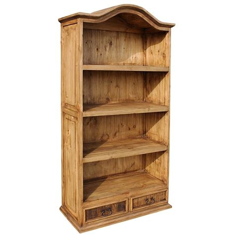 Rustic Pine Collection  Bonnet Top Bookcase Lib01