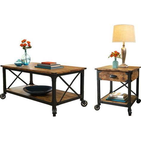 living room tables walmart better homes and gardens rustic country 2 living