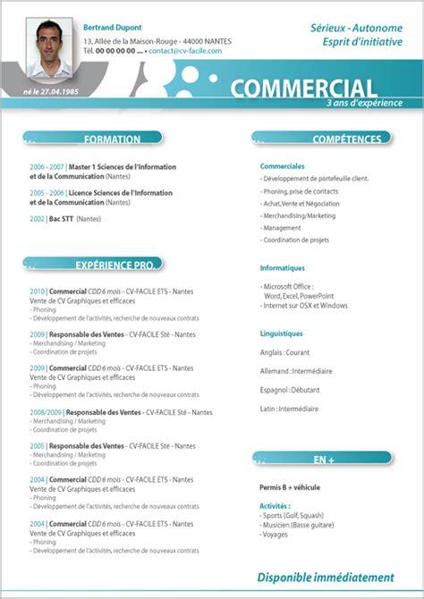 t 233 l 233 charger exemple cv commercial amandine exemple cv cv et exemple