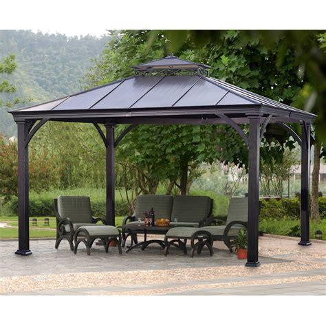 sunjoy deerfield gazebo outdoor living gazebos canopies pergolas gazebos