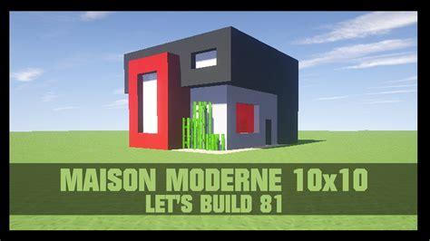 tuto comment construire une maison moderne 10x10 dans minecraft