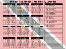 Trinidad and Tobago 2018 2019 Holiday Calendar