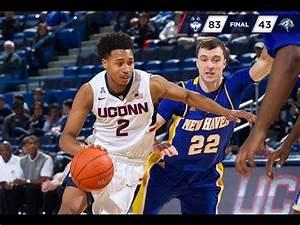 UConn Men's Basketball vs. New Haven Highlights - YouTube