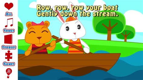 Row Your Boat Youtube by Row Your Boat Lyrics Youtube Nursey Rhyme Song Free