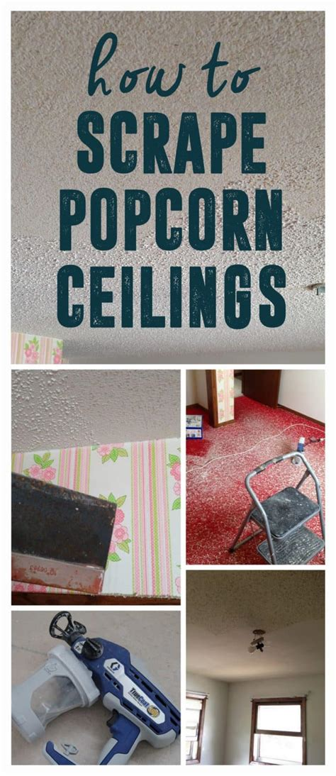 tips and tricks for scraping popcorn ceilings