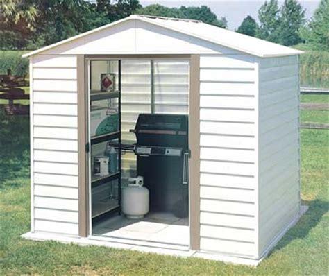 white dallas 8 w x 6 d arrow metal storage shed kit