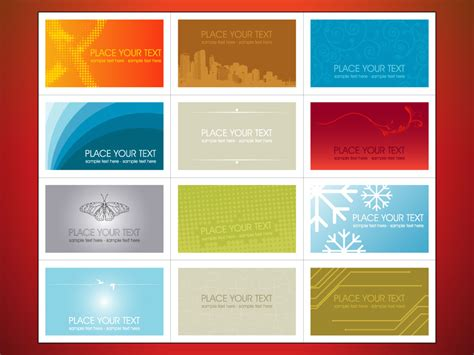Free Printable Business Cards Design Templates