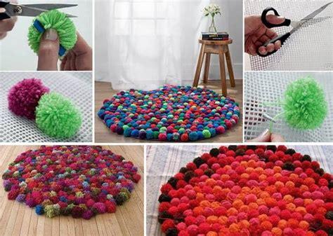 diy tapis en pompons