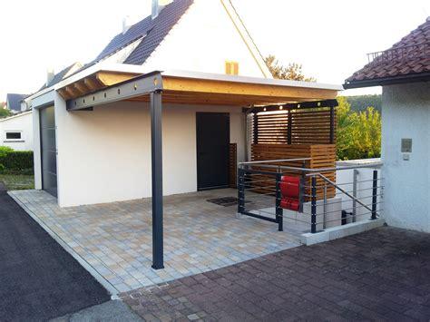 Carport Mit Dachbegrünung Rhombuswandverkleidung
