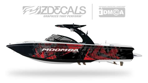Red Boat Vinyl Wrap by Bad Resolution Boat Wrap Zdecals