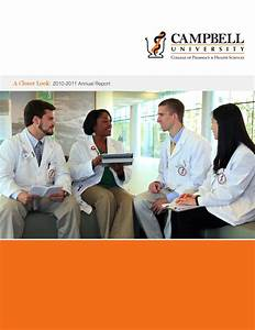 Campbell University College of Pharmacy & Health Sciences ...