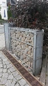 Baumaterial Günstig Kaufen : doppelpfosten gabione mit abdeckleiste gabione ~ Markanthonyermac.com Haus und Dekorationen