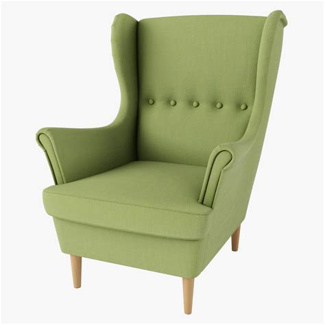strandmon chair ikea green 3d max