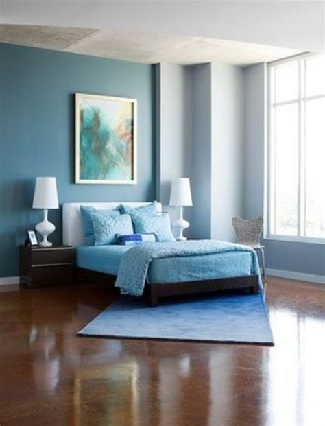 Modern Cute Blue And Brown Bedroom Interior Decoration