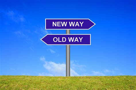 Signpost Showing New Way Old Way  Charity Ideas