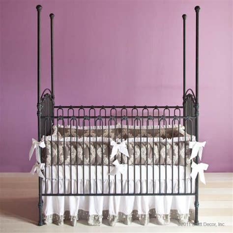bratt decor venetian crib in slate ainsley baby venetian iron crib and slate