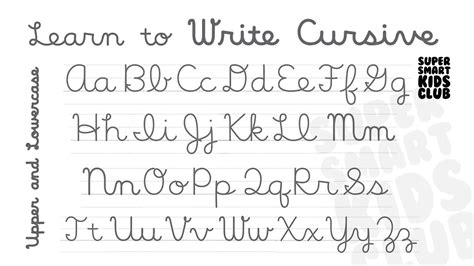 Cursive Letters Lowercase And Capital Theveliger